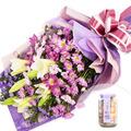 아름다운 미소꽃다발+사탕
